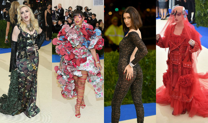 rihanna  madonna  katy perry  8 most outrageous looks at the met gala 2017