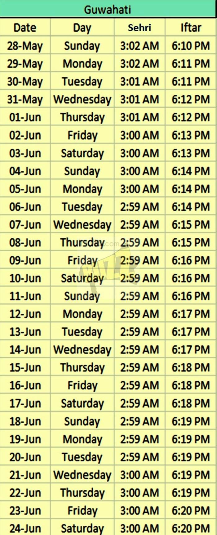 Ramzan Time Table 2017: Download Ramadan Schedule in PDF ...