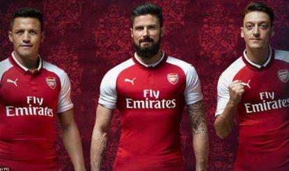 half off 315e8 257c9 Arsenal unveil new home kit for the 2017-18 Premier League ...