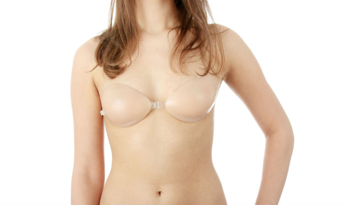 Silicone bra with strings for large boobs