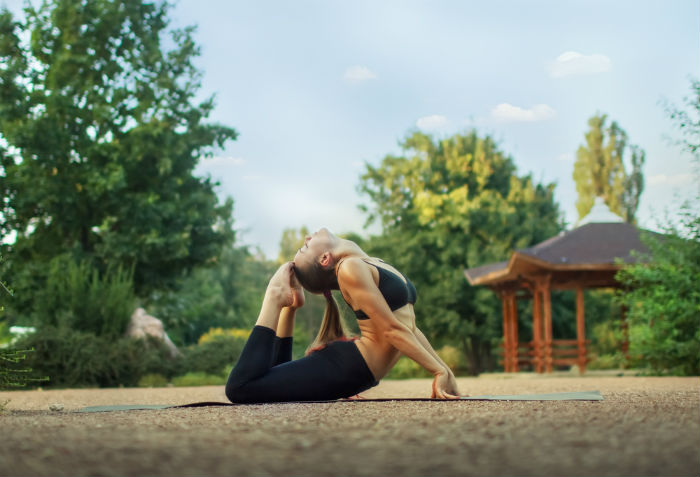 Begin with some warm up yoga asanas