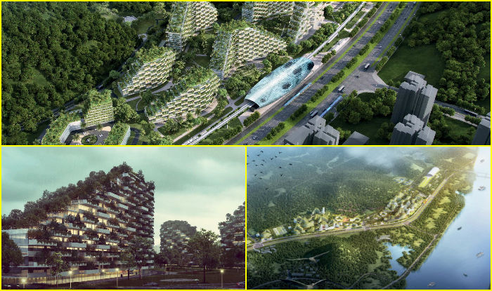 World 39 s first forest city begins constructed in china for Liuzhou forest city