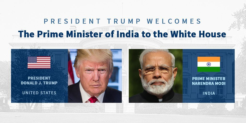 In warm first meeting, Trump and Modi reaffirm India-US ties