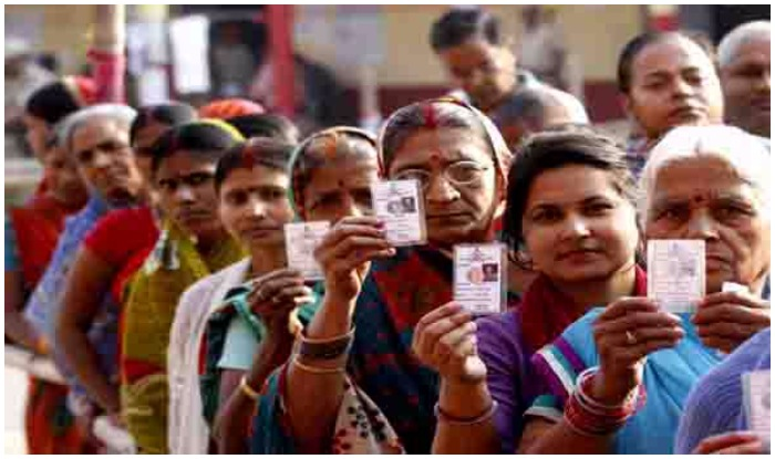 Representational image of voters queued up