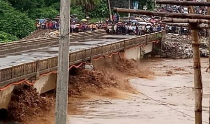 Railway Bridge Washed Away in Rayagada