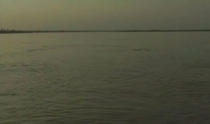 Rise in water level of a lake in UP