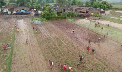 Flood affected region Rayagada in Odisha
