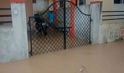 Water enters house premises in Chattisgarh