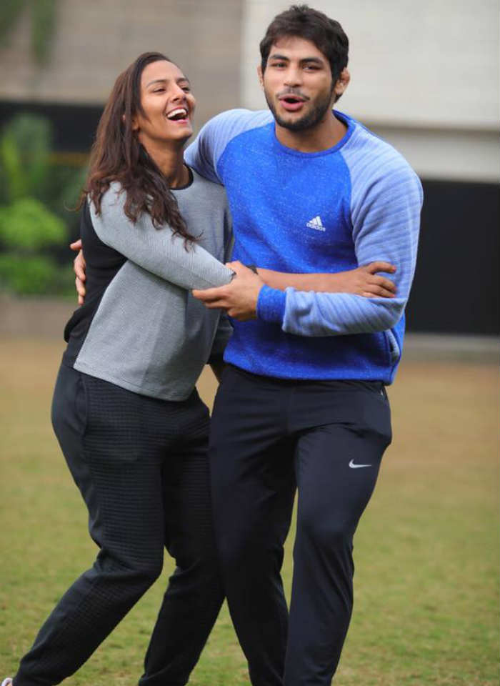 Geeta Phogat with husband Pawan Kumar