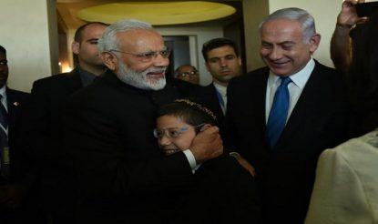 PM Modi hugs Moshe