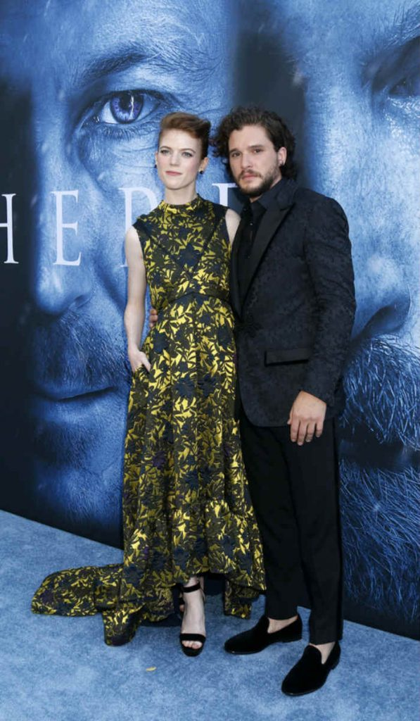 Real-life Game of Thrones Couple Kit Harington and Rose Leslie Look Adorable at the Season 7 Premier! View Pics