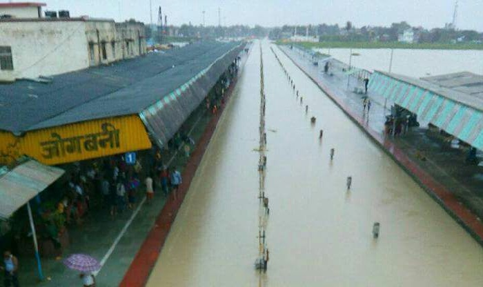 Train services from Jogbani in BIhar has been disrupted due to submergence of tracks. (India.com image)