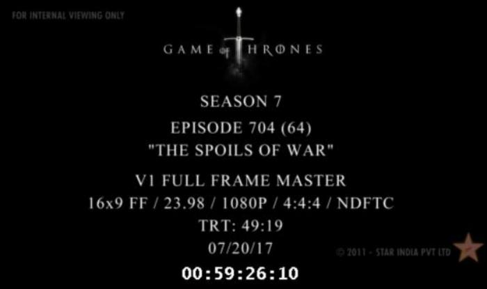 Game of Thrones Season 7 Full Episode 4 Leak Online piracy