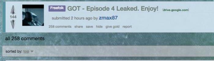 Game of Thrones Season 7 Full Episode 4 Leak