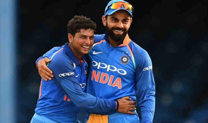 Kuldeep Yadav and Virat Kohli