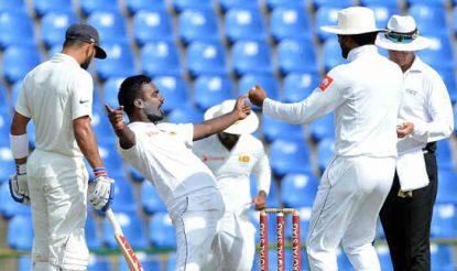 श्रीलंका के लिए पहले दिन मलिंदा पुष्पकुमारा ने तीन विकेट झटके (Getty)