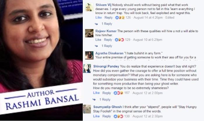 "rashmi bansal Author rashmi bansal defends ""hinglish"" writing, and offers advice for entrepreneurs."