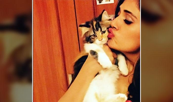 Richa Chadha with her cat Kamli