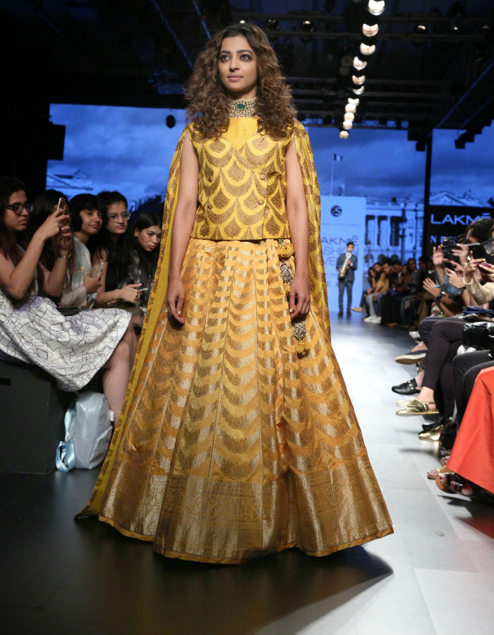 Image result for lakme fashion week 2017 day 3  Radhika Apte