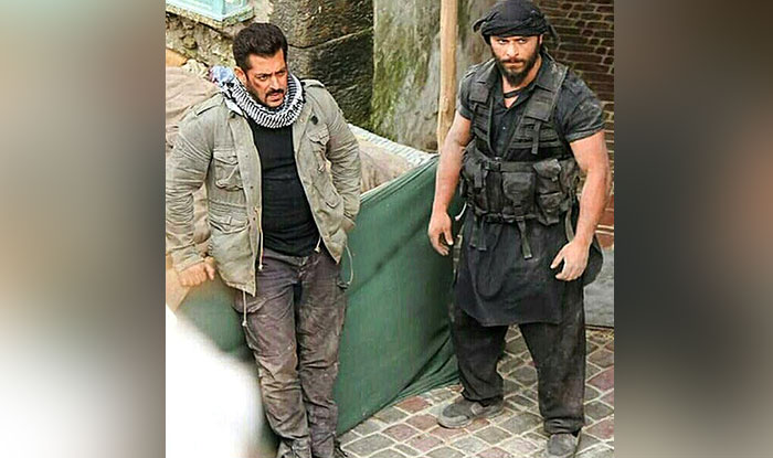 Salman Khan on the sets of Tiger Zinda Hai