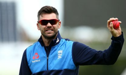 James Anderson takes part in a fielding drill during a nets session at Edgbaston | Getty Images