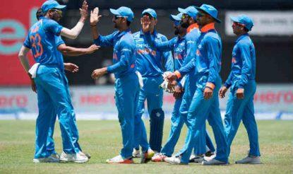 भारत श्रीलंका के वर्तमान दौरे पर पांच वनडे और एक टी20 मैच खेलेगा (Getty)