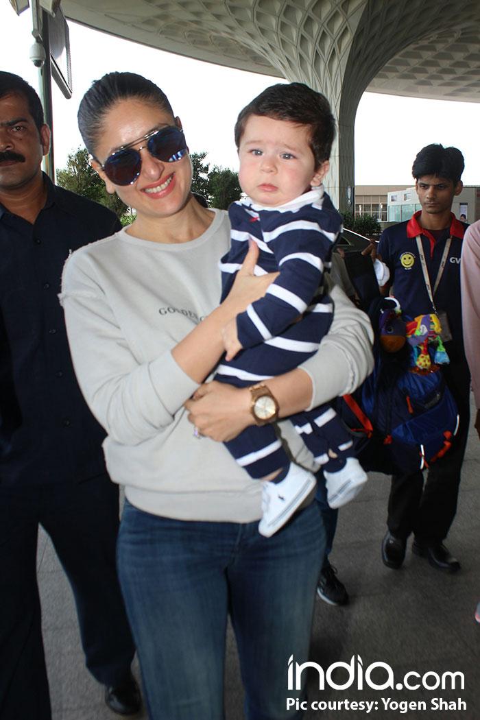 Kareena and Taimur clicked at the Mumbai airport