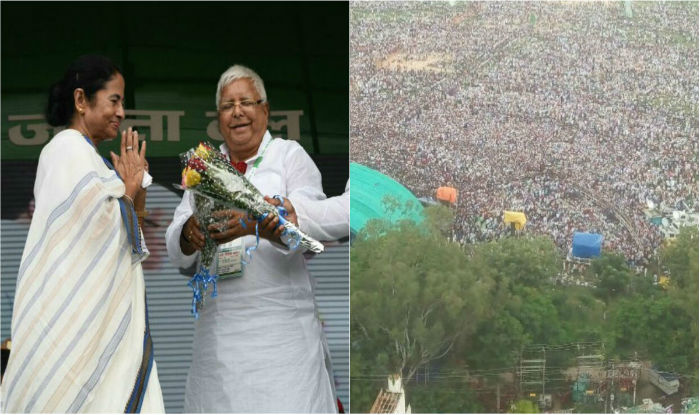 The RJD chief and his wife Rabri Devi first greeted TMC supremo Mamata Banerjee and their