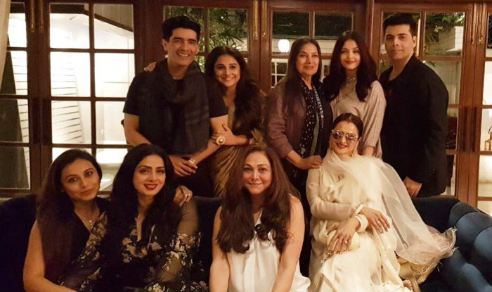 Sridevi's birthday bash at Manish Malhotra's residence