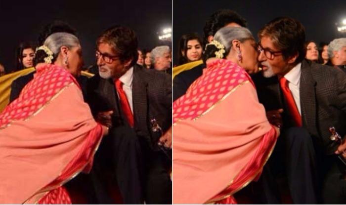 Amitabh Bachchan Jaya kissing