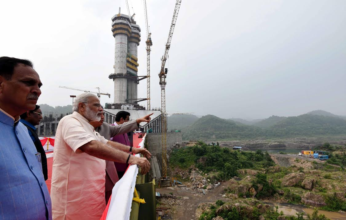 PM Modi monitoring the dam site (PIB)