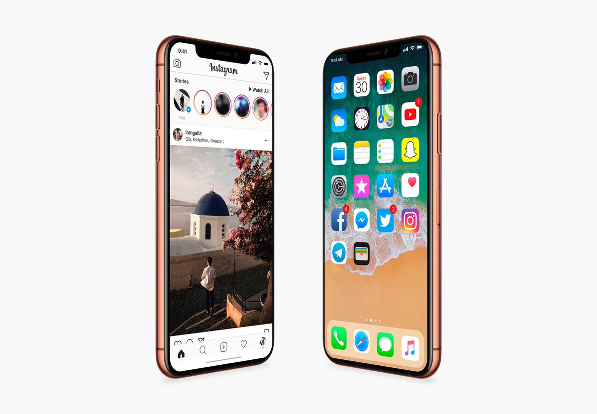 iPhoneX in Blush Gold