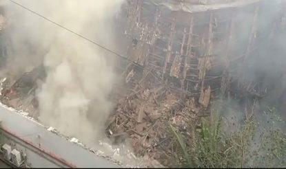 Fire at RK Studio, Mumbai (Image: ANI)