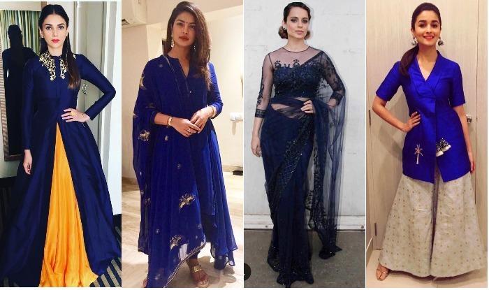 Navratri 2017 Day 7 Color Royal Blue Wear Stunning Blue