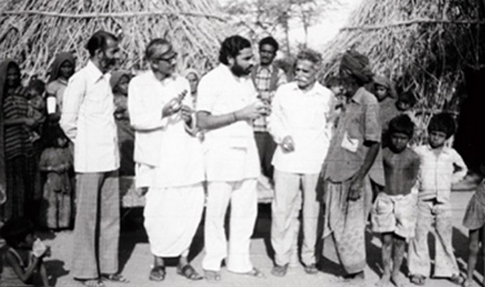 Modi has always been close to the underprivileged, always lending an ear to their issues and this image is a proof of it.