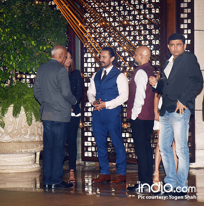 Aamir Khan looks dapper in white and blue suit