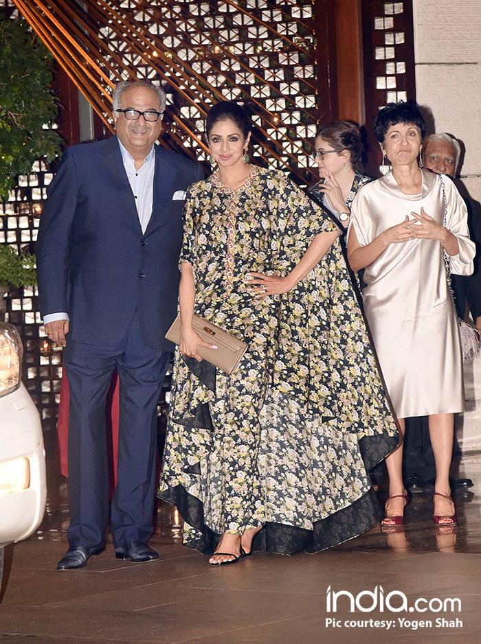 Sridevi and Boney Kapoor make a stylish appearance at the bash