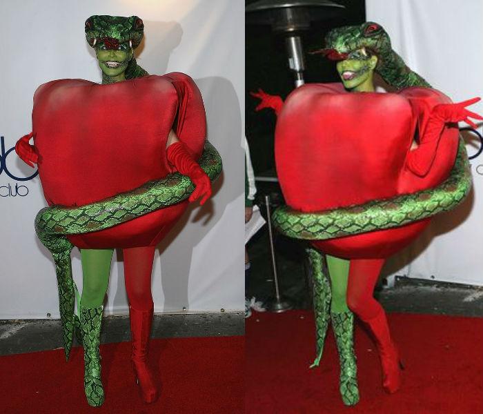 Heidi Klum as Adam & Eve themed Serpent