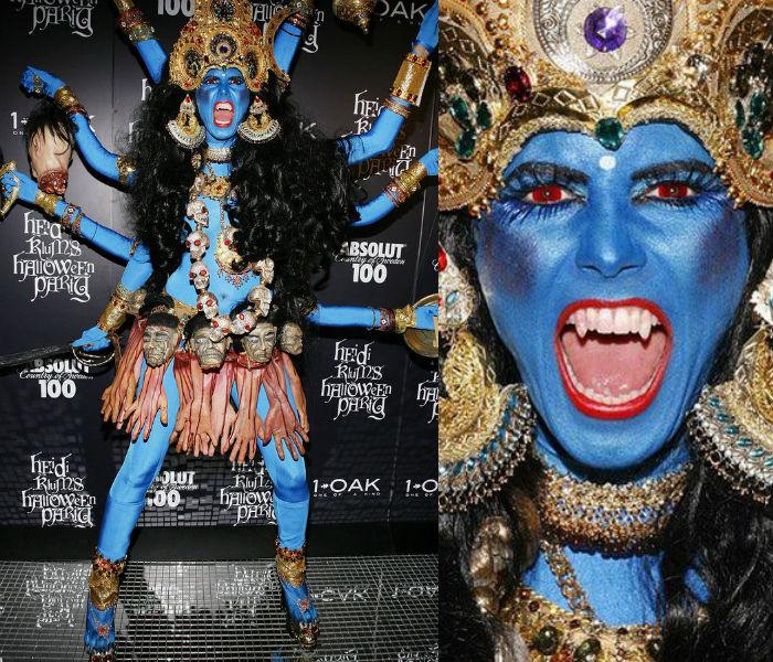 Heidi Klum as Indian Goddess Kali