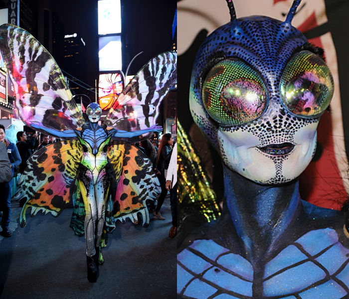 Heidi Klum as butterfly