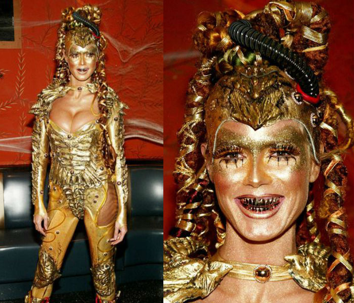 Heidi Klum as golden alien