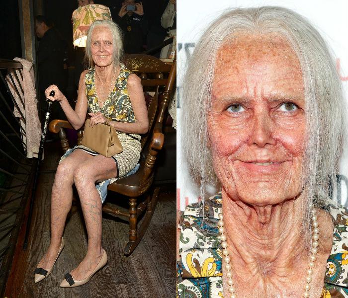 Heidi Klum as old lady