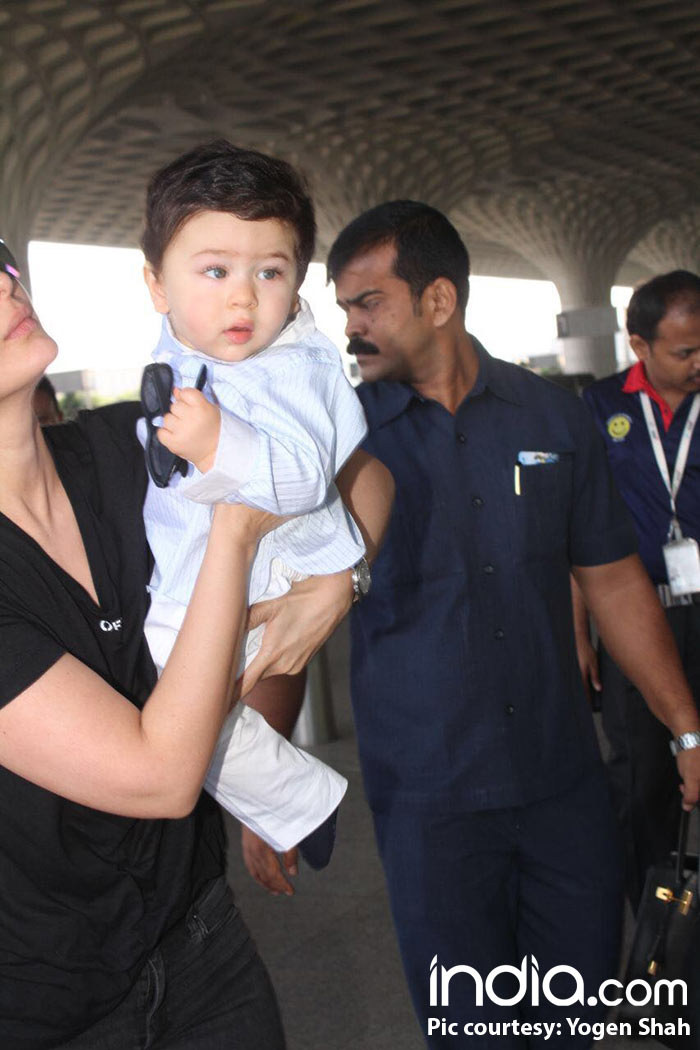 Kareena Kapoor Khan and son Taimur head to New Delhi after a week to shoot for Veere Di Wedding