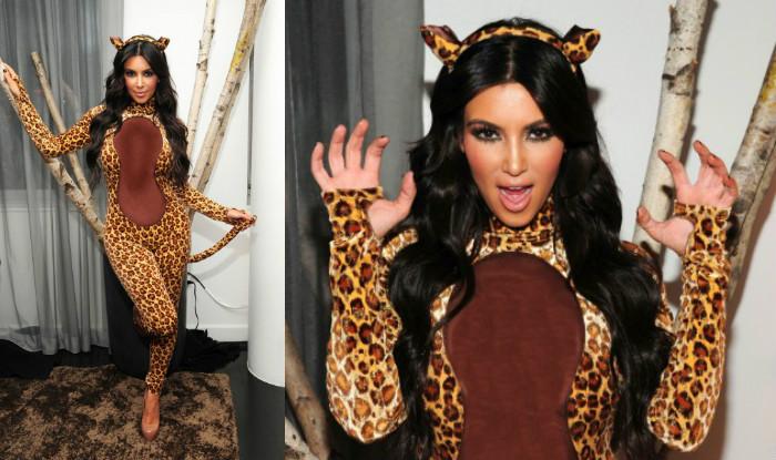 Kim Kardashian halloween cheetah