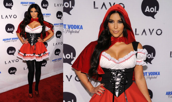 Kim Kardashian halloween red riding hood