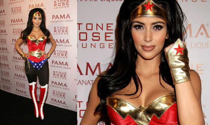 Kim Kardashian halloween wonderwoman
