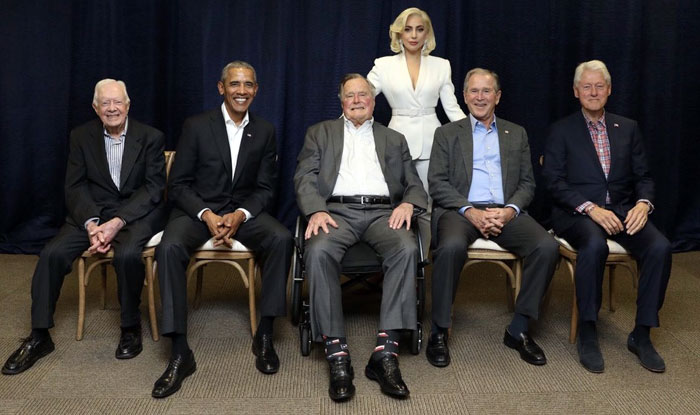 Lady Gaga Photo With Five Former American Presidents At Charity Concert Goes Viral