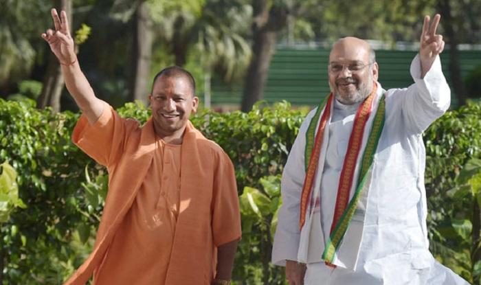 Yogi Adityanath with Amit Shah (File image/PTI)