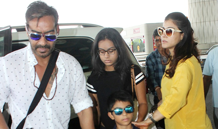 Ajay Devgn Kajol And Kids Head To Goa For A Mini Family Vacay While