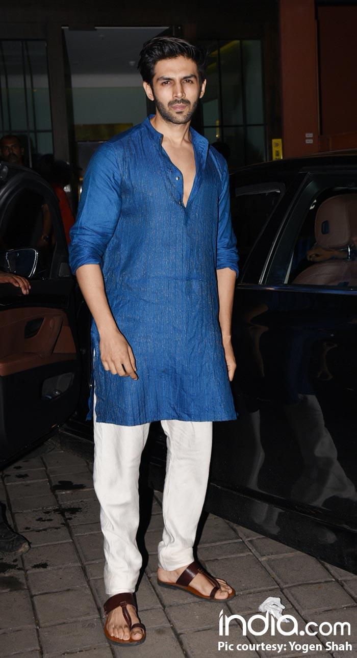 Karthik Aaryan at Arpita Khan's Diwali bash